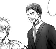 The head coach introduces himself to Kuroko