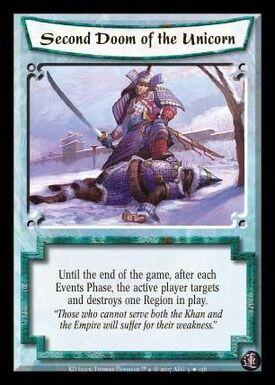 Second Doom of the Unicorn-card