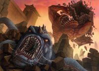 Oni attacking the Kaiu Wall