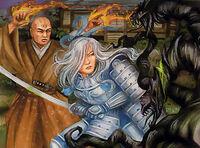 Takao aiding Rekai