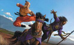 Karachu defeats the false Kinto