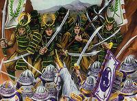 Unicorn fighting Imperial Guard