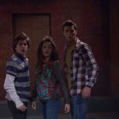Adam, Bree and Chase after they got past the jaws