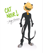 Cat Noir Nasca Drawing