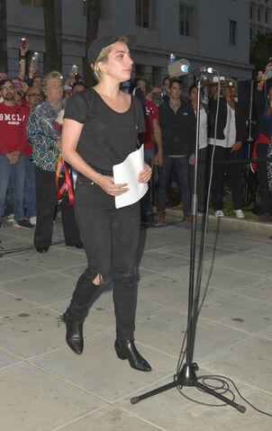 File:6-13-16 Vigil speech outside at City Hall in LA 001.jpg