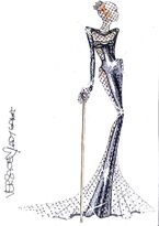 Atelier Versace Sketch for 54th Grammy Awards