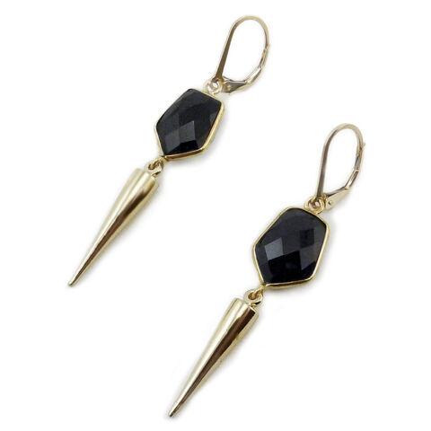 File:Cynthia Rybakoff - Black onyx gold briolette edge spike earrings.jpg