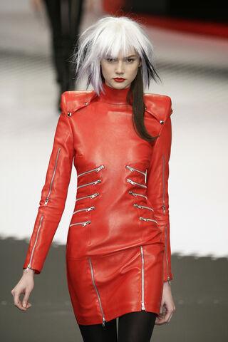 File:Jean-Charles de Castelbajac Fall Winter 2009 Red Leather Multi Zipper Dress.jpg