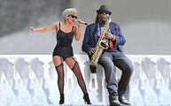 Lady-gaga-with-clarence-clemmons