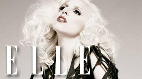 Lada Gaga Behind-the-Scenes ELLE Cover Shoot January 2010