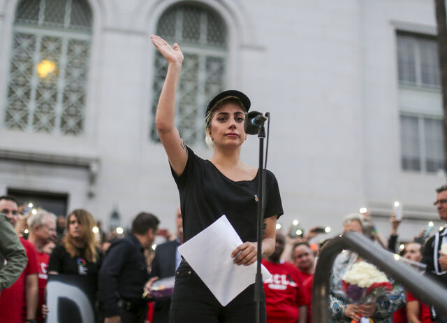 File:6-13-16 Vigil speech outside at City Hall in LA 002.jpg