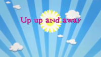 Up up and away title card