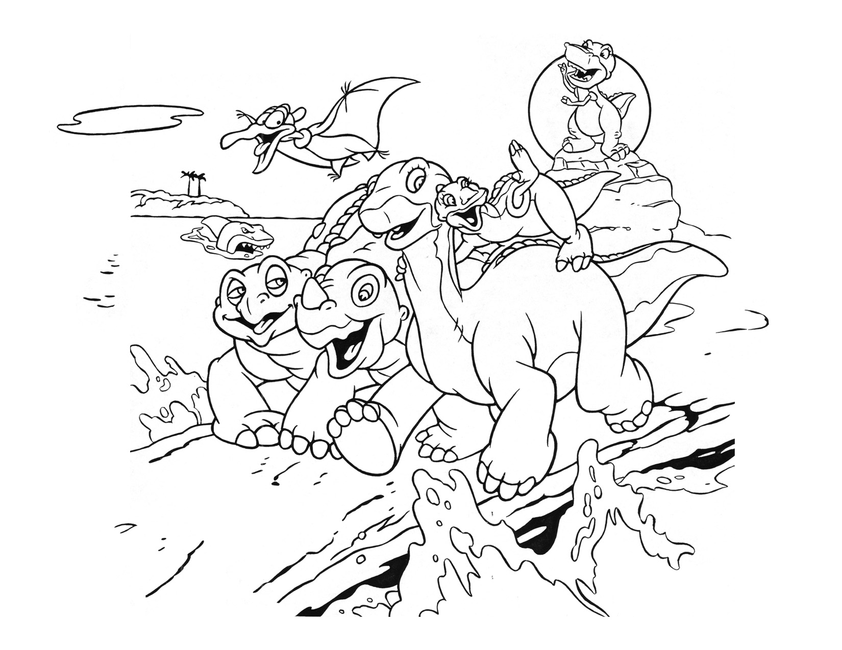 Coloring Pages The Land Before Time Coloring Pages lbt movie coloring pages land before time wiki fandom powered page 2 5