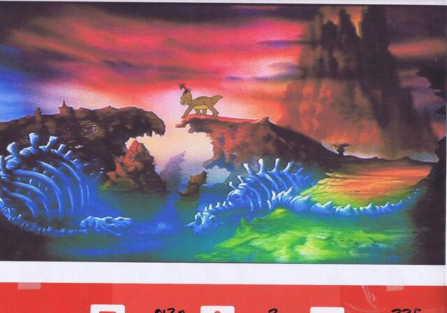 File:The Land Before Time Original Cartoon Production CERA Cel & Copy Bkgd -1U891.jpg