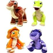 120713050 -com-the-land-before-time-set-of-4-plush-6-inch-figures-