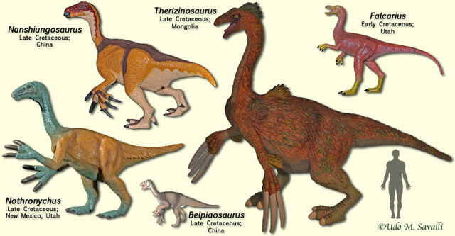 File:TherizinosaurModels.jpg