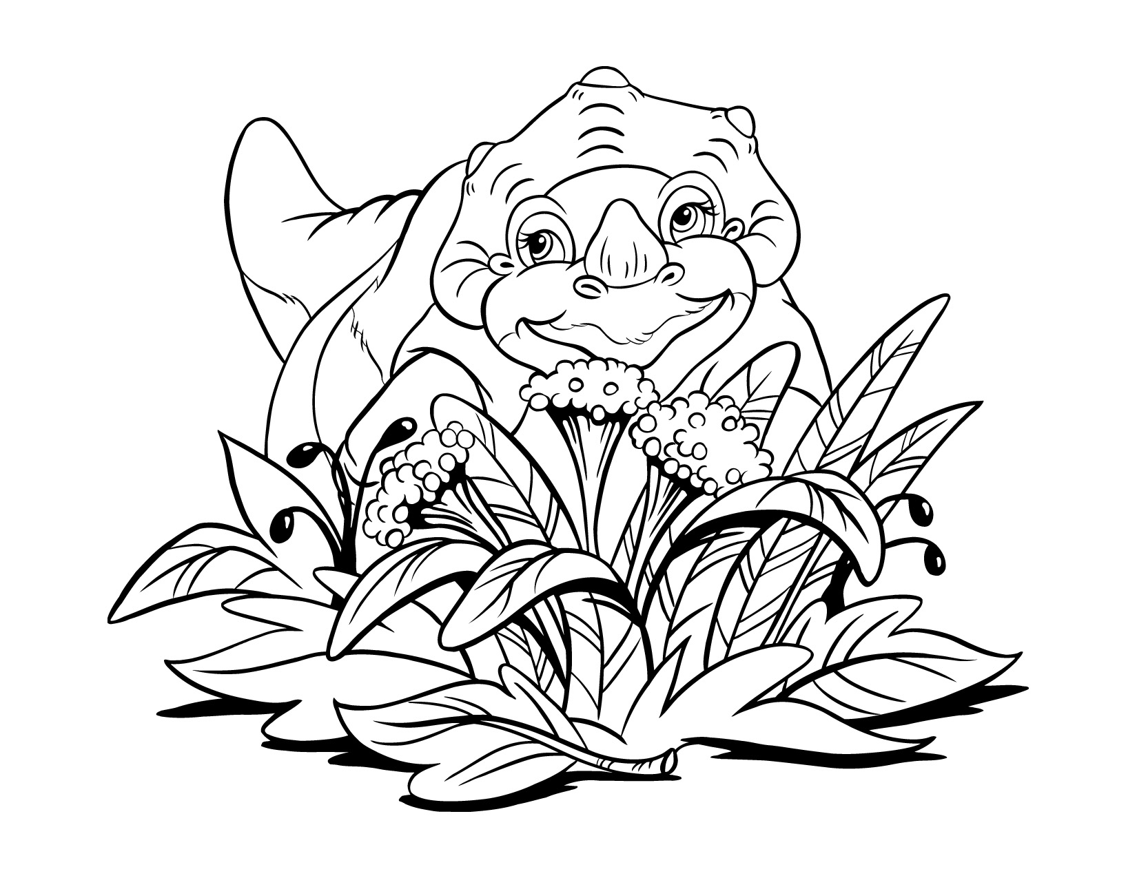 unique chomper land before time coloring pages model example