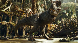 Land-of-the-lost-2009-rick-and-grumpy-tyrannosaurus-rex-fred-flintstone-tail-slide-will-ferrell