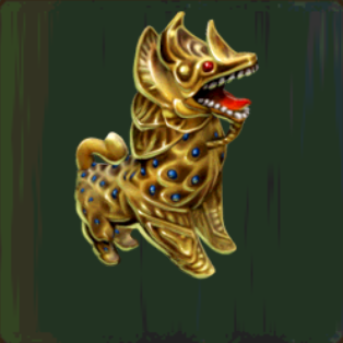Gilded Chinthe