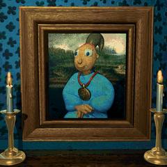Twinsen's portrair in miss Bloop's Private Museum