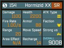 Hormizid XX SR Lv1 Back