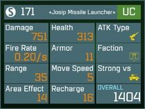 Josip Missile Launcher UC Lv1 Back