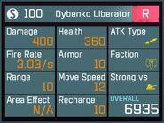 Dybenko Liberator R Lv1 Back