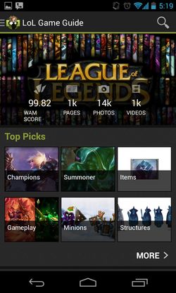 League of Legends App Screenshot