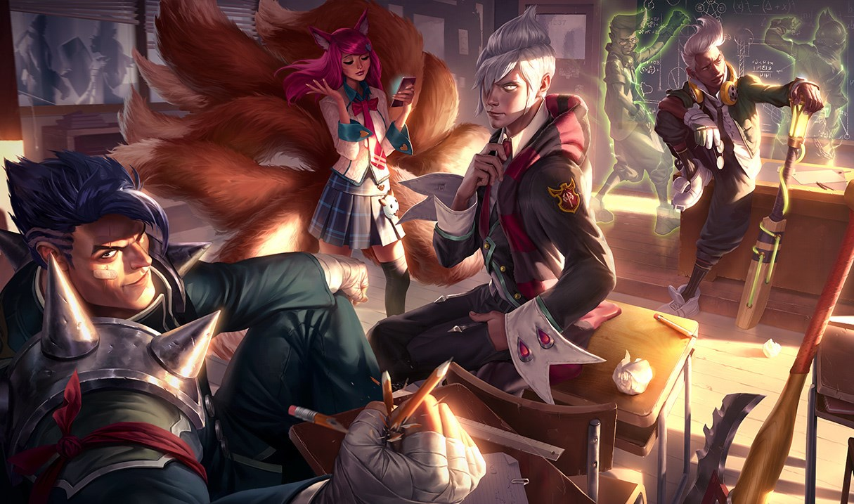 Darius Have Their Pictures Taped To His Chalk Board And Points Awarded Has 0 Obviously So Ryze Is Professor In The Academy Skins