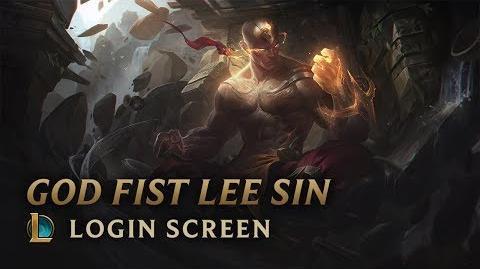 God Fist Lee Sin - Login Screen