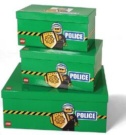SD655green Storage Boxes Modular Police Green