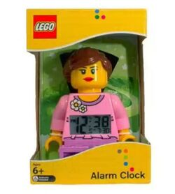 Girl minifigure clock box