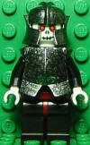 Skeleton Warrior White Speckled Breastplate n Helmet small