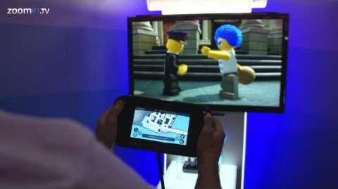 Lego City Undercover gameplay - Driving cars and catching bad guys (Wii U)