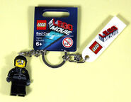 Bad cop key chain with label