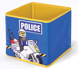SD336blue Textile Toy Bin Police Blue