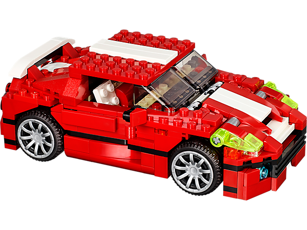 31024 le bolide rouge wiki lego fandom powered by wikia. Black Bedroom Furniture Sets. Home Design Ideas