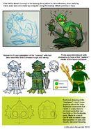 Swamp monster concept Art