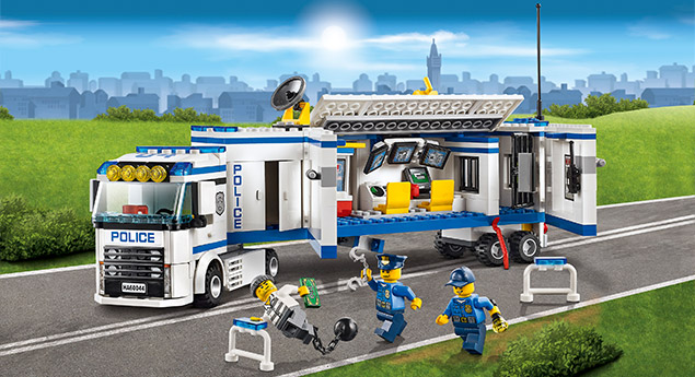 60044 l 39 unit de police mobile wiki lego fandom powered by wikia - Lego city police camion ...