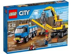 60075 Excavator and Truck