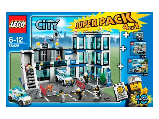 66428 city police super pack brickipedia fandom powered by wikia. Black Bedroom Furniture Sets. Home Design Ideas