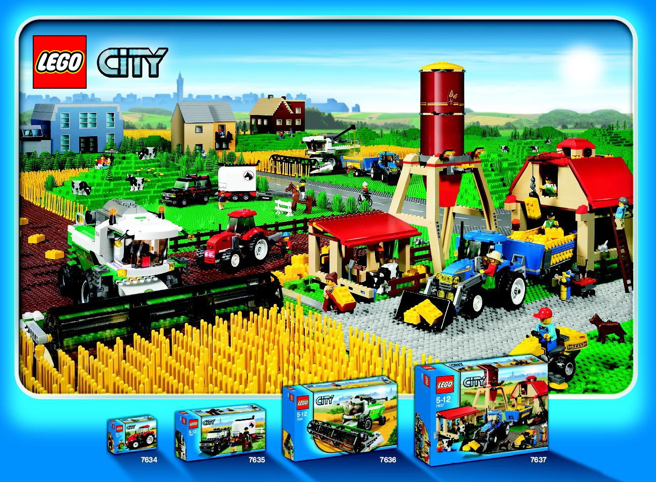 image lego city farm sets brickipedia fandom powered by wikia. Black Bedroom Furniture Sets. Home Design Ideas