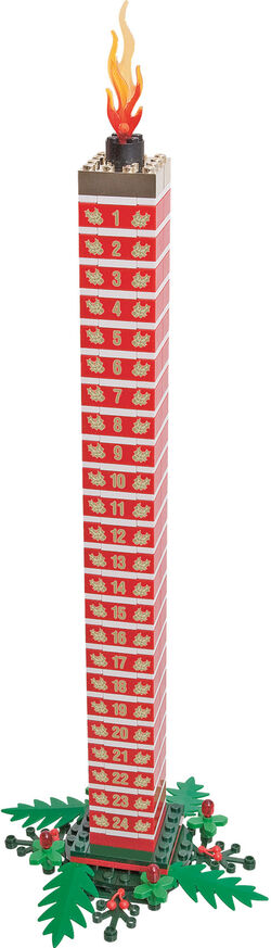 852741 LEGO Holiday Countdown Candle