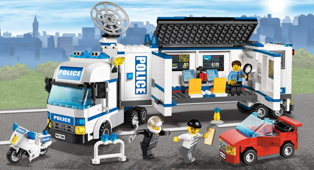 7288 mobile police unit brickipedia fandom powered by wikia - Lego city police camion ...