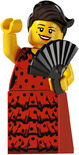 Lego minifigs series 6 Flamenco Dancer