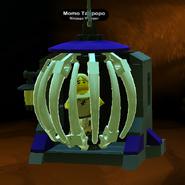 Momo Tanpopo caged