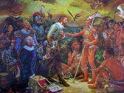 Christ Columbus meets natives