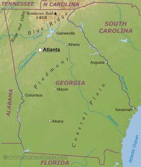 Georgia-map