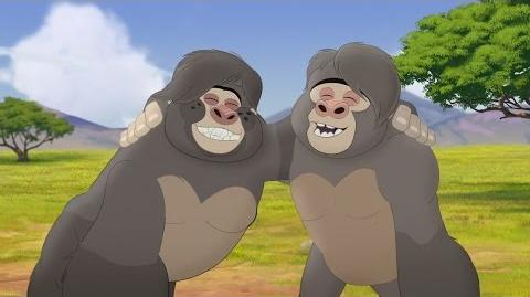 Lion Guard Meet Hafifu and Majinuni! The Lost Gorillas HD Clip