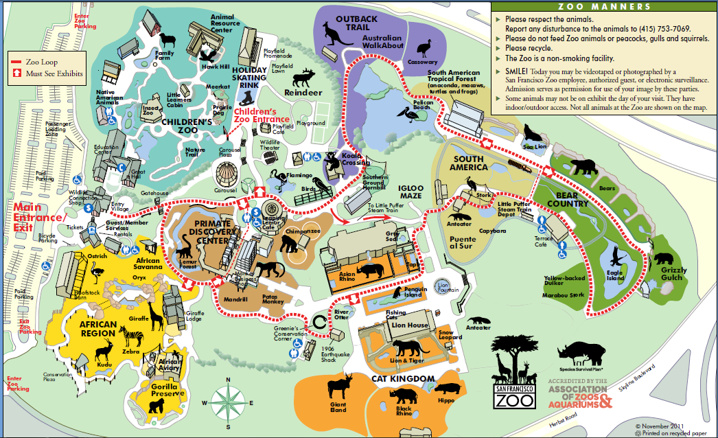 San Francisco Zoo Map Michigan Map - San fransisco us map